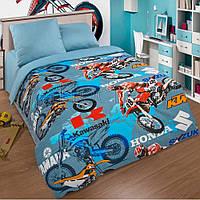Комплект постельного белья Мотокросс,поплин