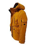 Мужская зимняя куртка (парка) горчичная