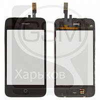 Тачскрин (сенсор) для APPLE iPHONE 3G, черный, с передней панелью, оригинал (Китай)