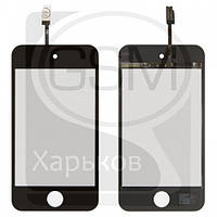 Тачскрин (сенсор) для APPLE iPod Touch 4G, чёрный, оригинал (Китай)