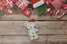 Новогодняя игрушка на елку мишка тедди ,3D эффект