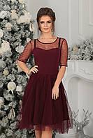 Коктейльное Платье Авелин в цвете марсала
