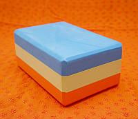 Кирпич для йоги цветной (23х15х10,7 см)