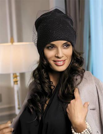 Красивая шапка со стразами и вуалью от Kamea - Candi., фото 2