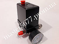 Автоматика 220V для компрессора в сборе 1 выход 1 монометр