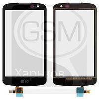 Тачскрин (сенсор) для LG K120E K4, K121 K4, черный, оригинал (Китай)