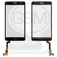 Тачскрин (сенсор) для LG X155 Max, X160 Max, X165 Max, черный, оригинал (Китай)