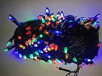 Гирлянда-конус LED 300, черный провод