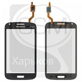 Тачскрин (сенсор) для SAMSUNG GT-i8260 Galaxy Core, GT-i8262 Galaxy Core Duos, синий, оригинал (Китай)