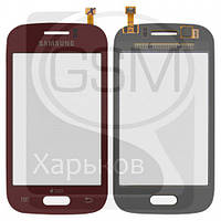 Тачскрин (сенсор) для SAMSUNG GT-S6310 Galaxy Young, GT-S6312 Galaxy Young, красный, оригинал (Китай)