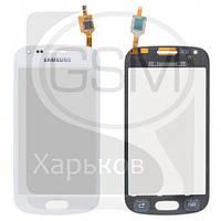 Тачскрин (сенсор) для SAMSUNG GT-S7560 Galaxy Trend, GT-S7562 Galaxy S Duos, белый, оригинал (Китай)