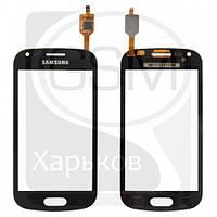 Тачскрин (сенсор) для SAMSUNG GT-S7560 Galaxy Trend, GT-S7562 Galaxy S Duos, черный, High Copy (качественная копия)