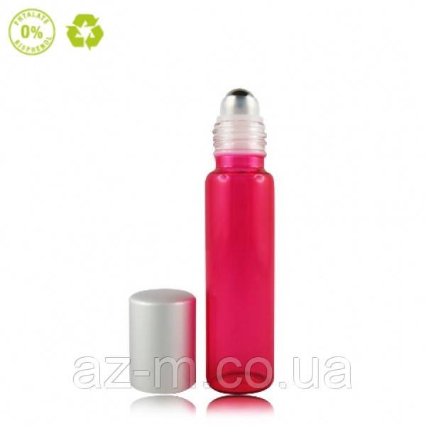 Флакон Роллер стеклянный розовый, 15 мл