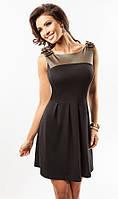 Молодежное летнее платье черного цвета. Модель 17045 Enny.
