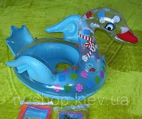 Круг-лодка надувной Лебедь
