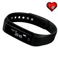 Фитнес трекер VeryFit ID116HR с датчиком сердцебиения для iPhone и Android черный