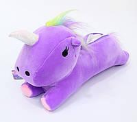 Пенал фиолетовый единорог