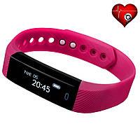 Фитнес трекер VeryFit ID116HR с датчиком сердцебиения для iPhone и Android сиреневый