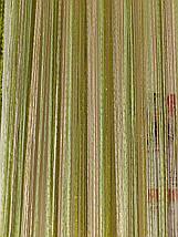 Шторы нити с люрексом радуга 88, фото 2