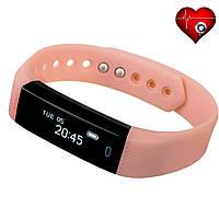 Фитнес трекер VeryFit ID116HR с датчиком сердцебиения для iPhone и Android розовый