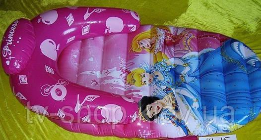 Матрас надувной с подлокотниками Принцессы Disney