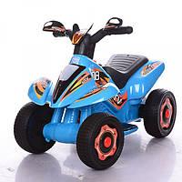 Детский толокар-мотоцикл электрический 2 в 1 M 3560E-4 Bambi, синий
