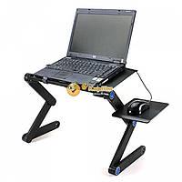 Столик трансформер для ноутбука с охлаждением и подставкой под мышь Т8, фото 1
