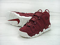 "Кроссовки Nike Air More Uptempo '96 QS ""Night Maroon"" (Реплика ААА+)"
