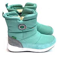 Женские зимние ботинки BaaSBoots 5012 салатовые