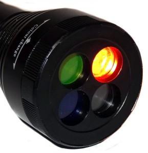 Фонарик с светофильтрами BL 9842, Фонарь ручной Bailong, фонарик на батарейках, фонарик с цветными линзами - Интернет магазин Best Goods в Киеве