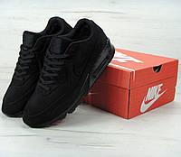 Зимние кроссовки Nike Air Max 90 VT Tweed FUR Winter с мехом. Живое фото (Реплика ААА+), фото 1