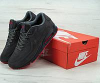 Зимние кроссовки Nike Air Max 90VT grey Winter с мехом. Живое фото (Реплика ААА+)