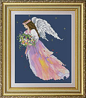 Набор для вышивания крестиком Ангел цветов