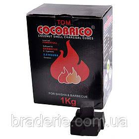 Уголь для кальяна кокосовый 1 кг CocoBrico