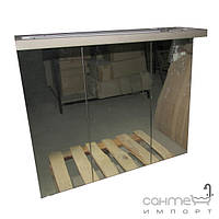Уценённая сантехника Мебель и зеркала для ванной комнаты Зеркальный шкафчик для ванной комнаты с подсветкой EAGO PC 125 FA-2 цвет белёный дуб (уценка)