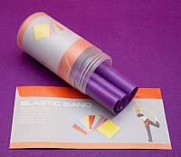 Лента эспандер для йоги фиолетовый (150х15 см)