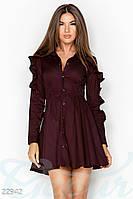 Осеннее платье рюши