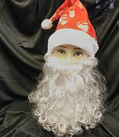 Борода Дед Мороза 40 см