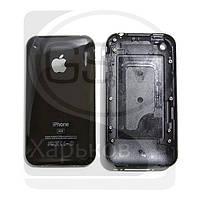 Задняя панель батареи (крышка аккумулятора) для APPLE iPHONE 3G 8 ГБ, черная, (качество AAA)