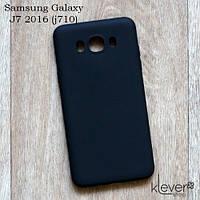 Силиконовый чехол накладка для Samsung Galaxy J7 2016 (j710) (черный)