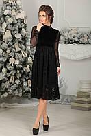 Платье нарядное Бенедикт в черном цвете, фото 1