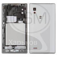 Корпус для LG P760 Optimus L9, P765 Optimus L9, белый, оригинал (Китай)