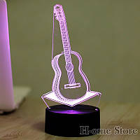 3Д Лампа  Гитара