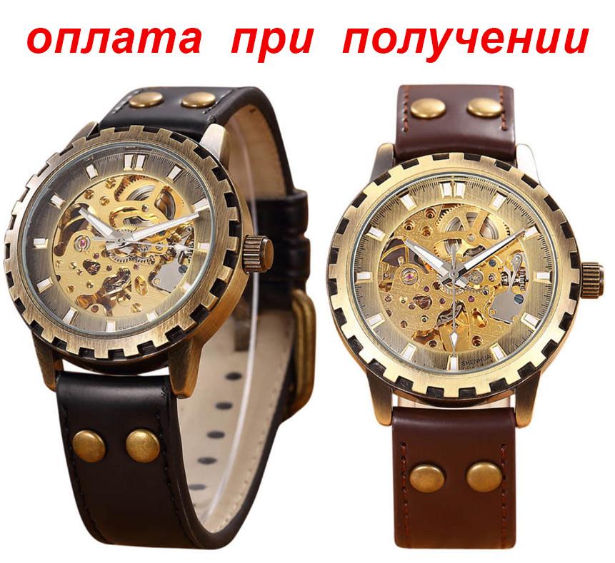 Мужские механические часы скелетон SHEN Winner Skeleton купить NEW! 67d1069470a28
