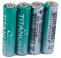 Батарейки солевые Titanum R03P/AAA 4pcs SHRINK (микропальчик) GR