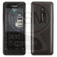 Корпус для NOKIA Asha 206, черный, (качество AAA)
