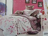 Сатиновое постельное белье полуторка ELWAY 3984