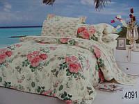 Сатиновое постельное белье полуторка ELWAY 4091