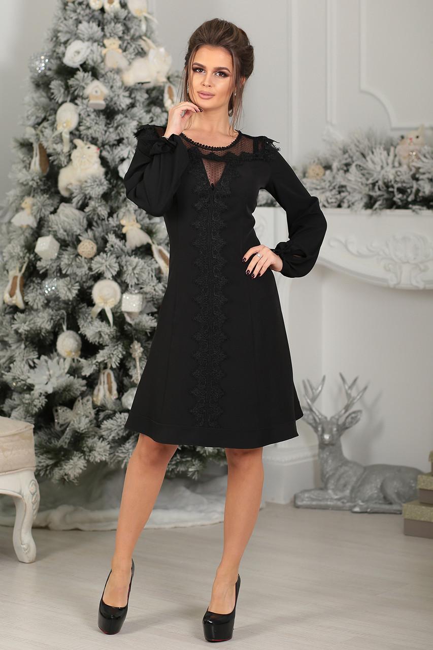 Нарядное Платье черное Мелани - LILIT ODESSA - женская одежда - опт - розница  в Одессе 9c1019a2247