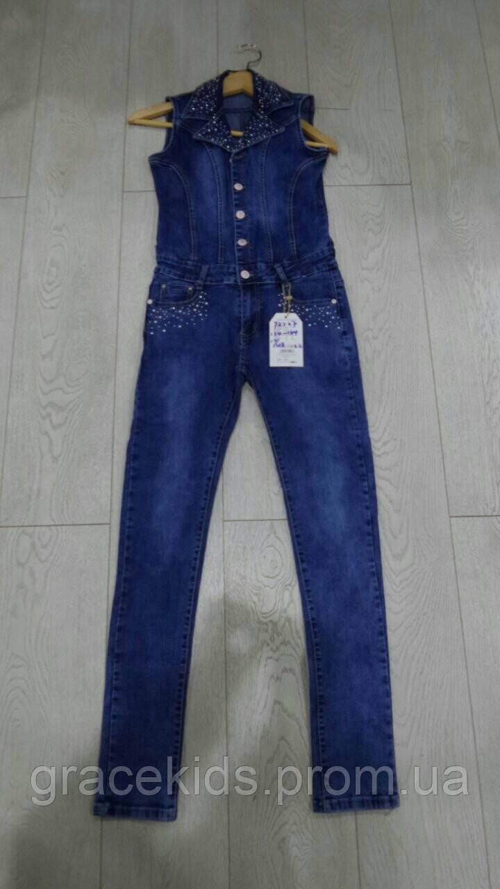 Подростковые джинсовые комбинезоны для девочек ,GRACE оптом